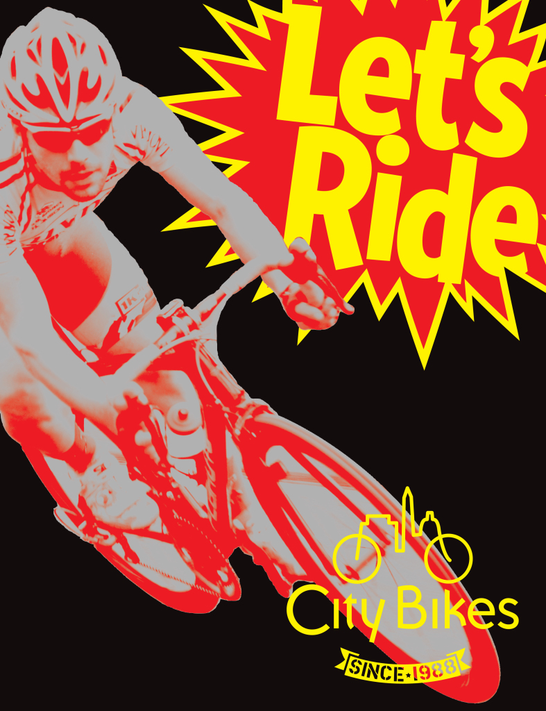 City Bikes Lets Ride Poster Concept