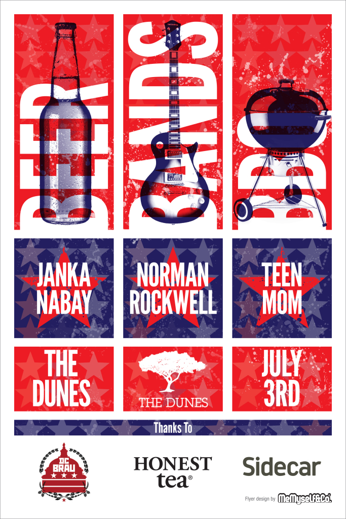 The Dunes Independence Day Concert Poster