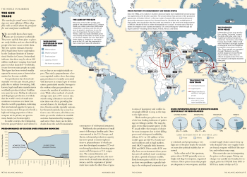 The Atlantic Magazine Global Gun Trade Inforgraphic Editorial Spread