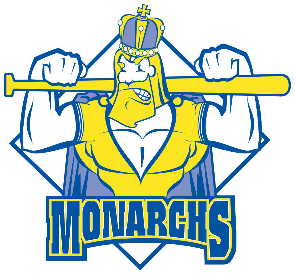 Michigan Monarchs Baseball Mascot Illustration