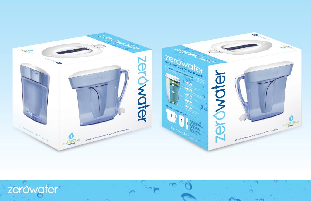 Zero Water Pitcher Conceptual Packaging