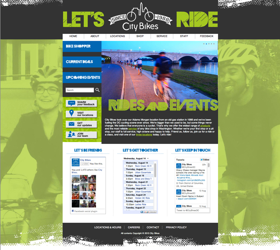 City Bikes Homepage Redesign