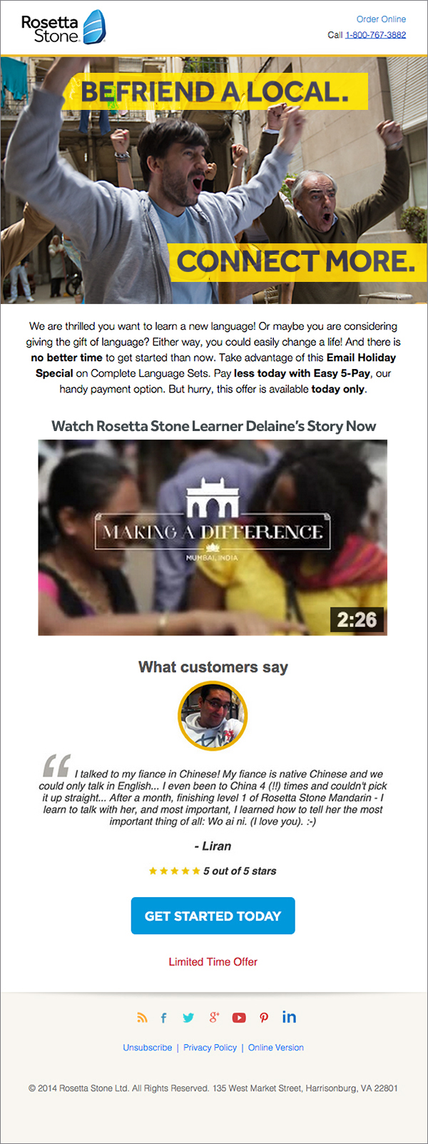 "Rosetta Stone ""MORE"" Campaign Email Treatment"