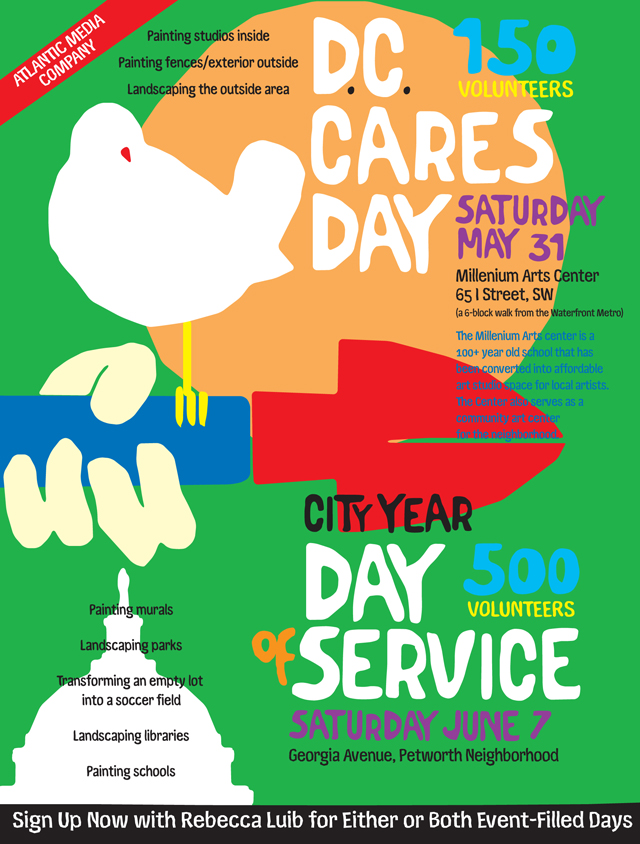 "City Year Day of Service ""Woodstock"" Poster Series"