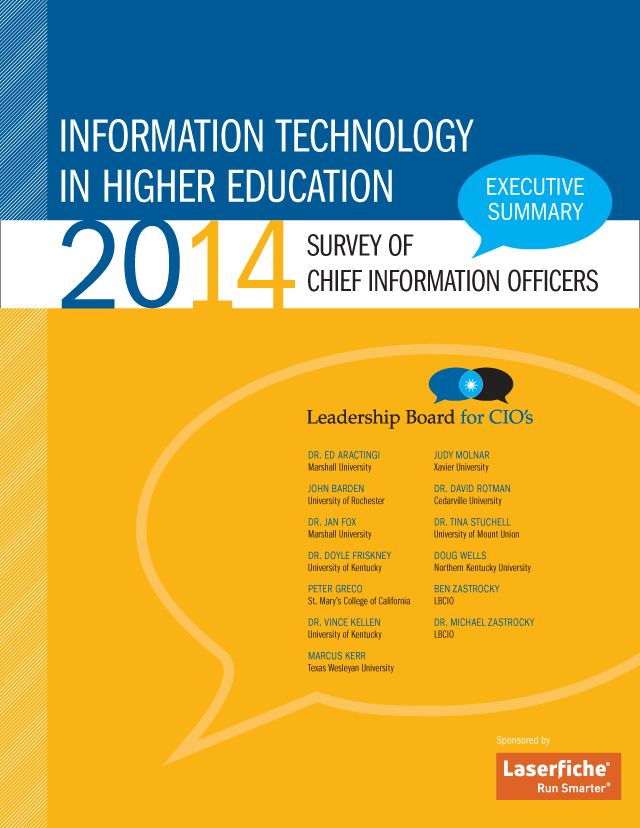 The Chronicle of Higher Education : LBCIO 2014 Survey