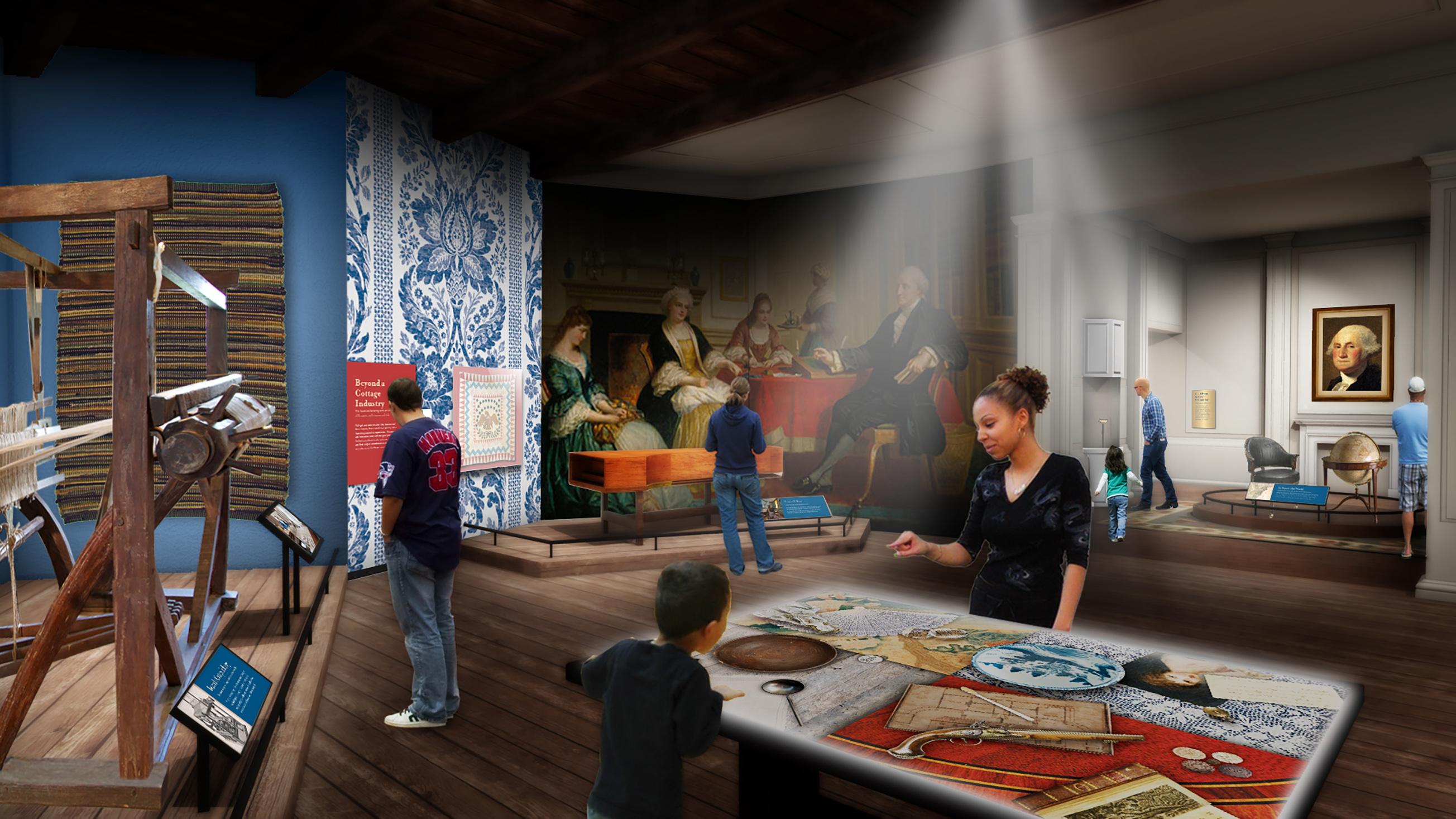 Mount Vernon Estate Orientation Center Gallery Concept: Life at Mount Vernon