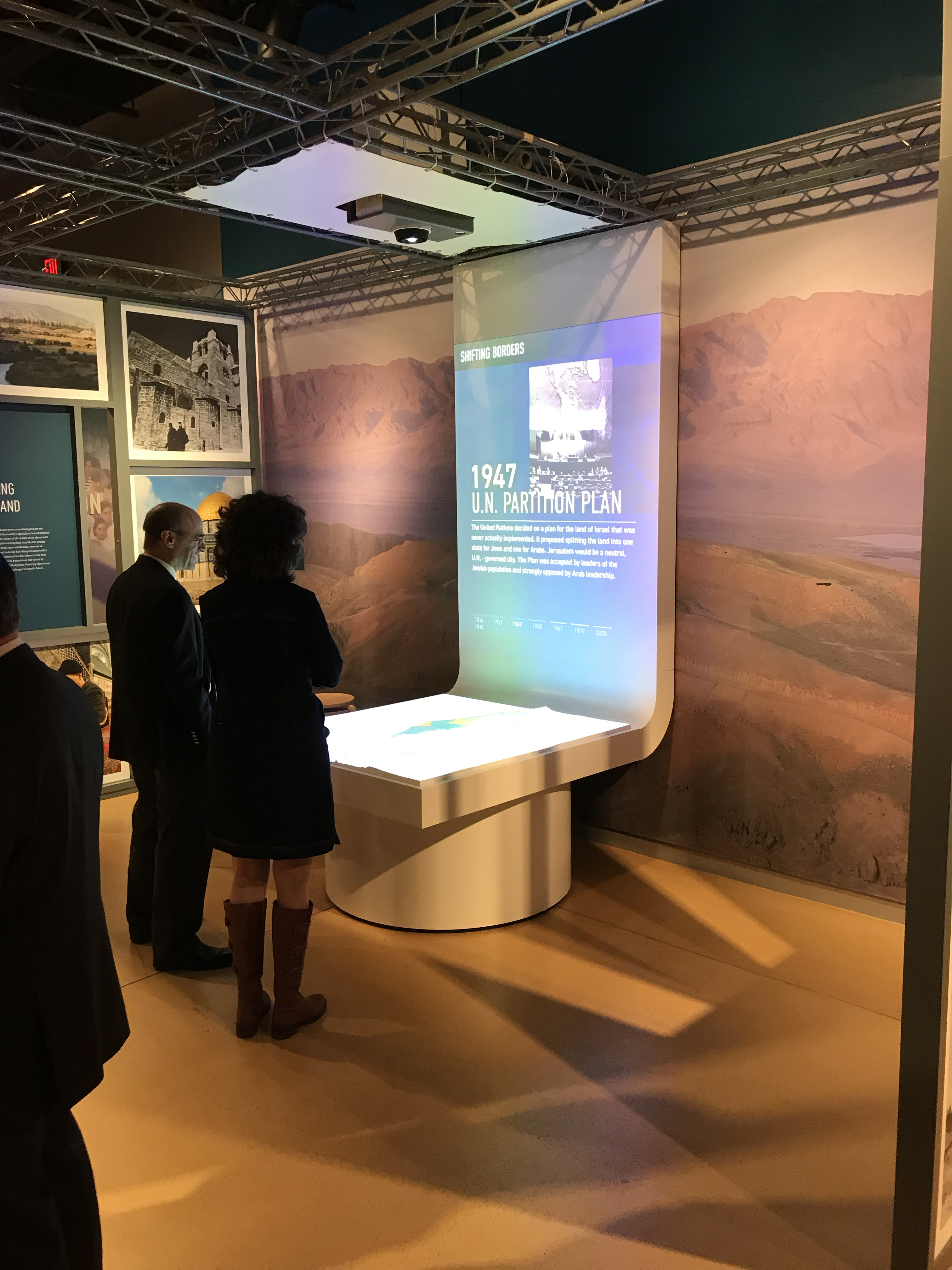 Israel: Then & Now Exhibition Projection Mapped Timeline