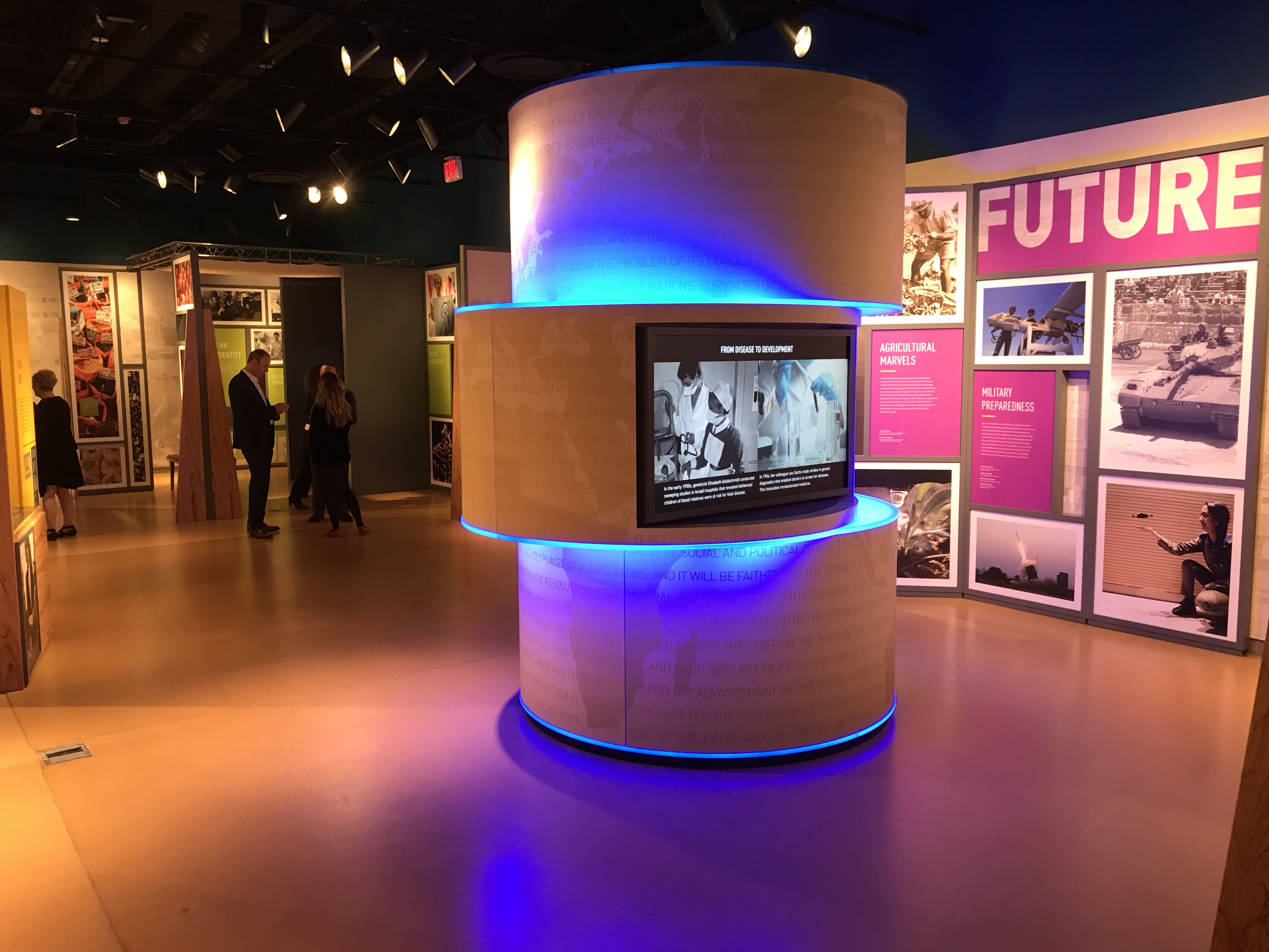 Israel: Then & Now Exhibition Media Column