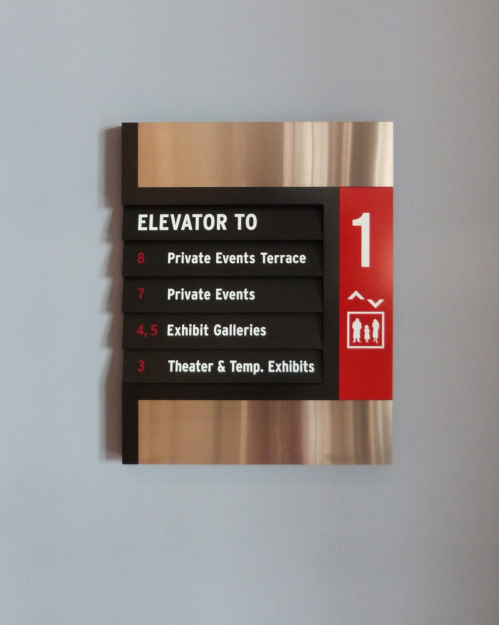 SPY Museum Interior Orientation Signage